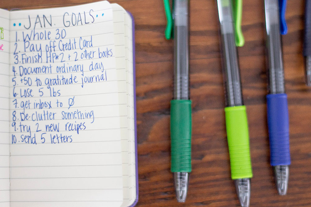 Using a Bullet Journal to track your goals // stephanieorefice.net