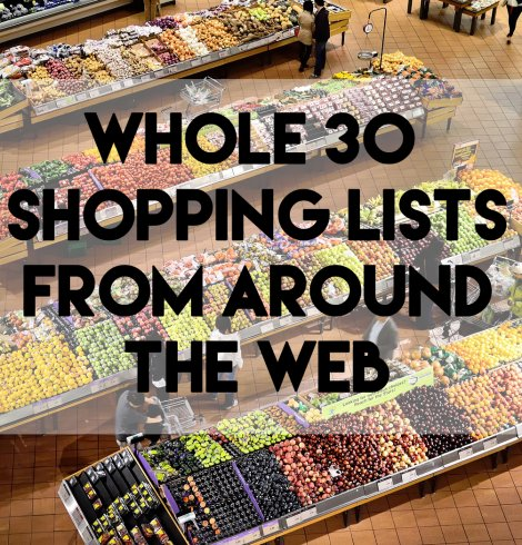 Whole 30 Shopping Lists