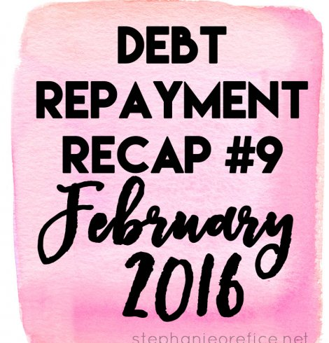 February 2016 Debt Repayment Recap + Final Friday Linkup + a Giveaway!