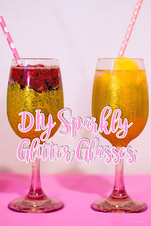 DIY Sparkly Glitter Glasses // stephanieorefice.net
