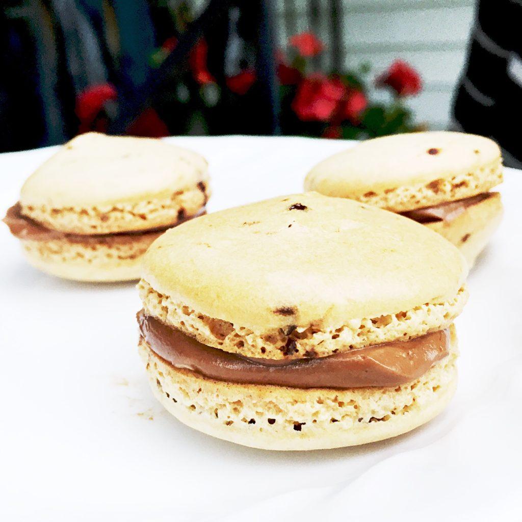 Coconut Mocha Macarons // justalittlebitlouder